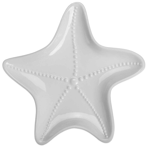 White Starfish Plates