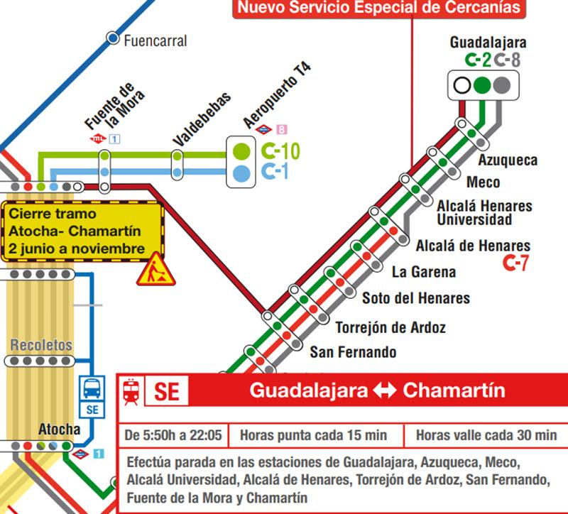 Servicios Especiales De Cercanias Metro Y Autobuses Emt Por Obras