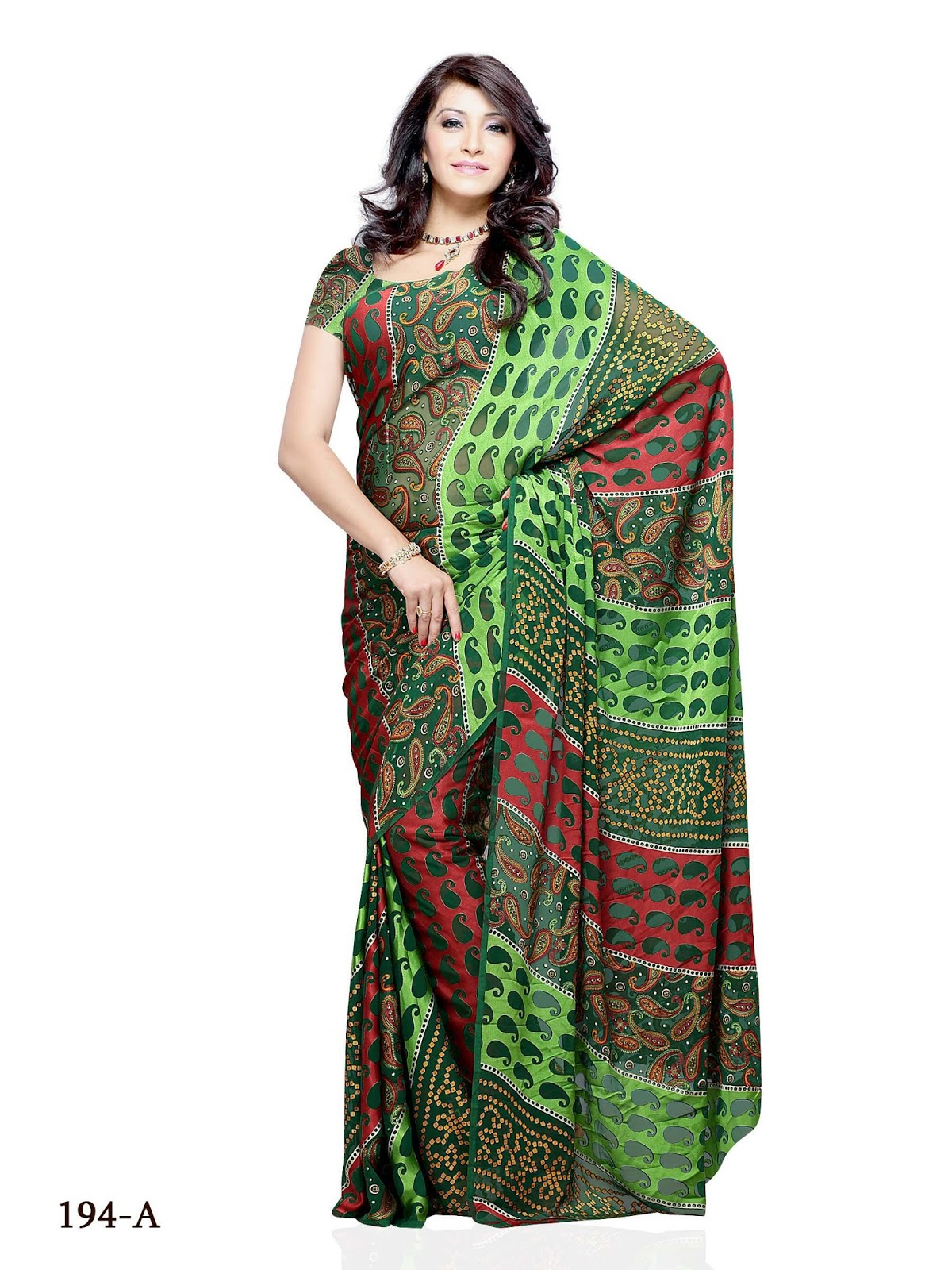 Online Shop Rs Online Shopping Brasso Multi Color Floral Print Saree
