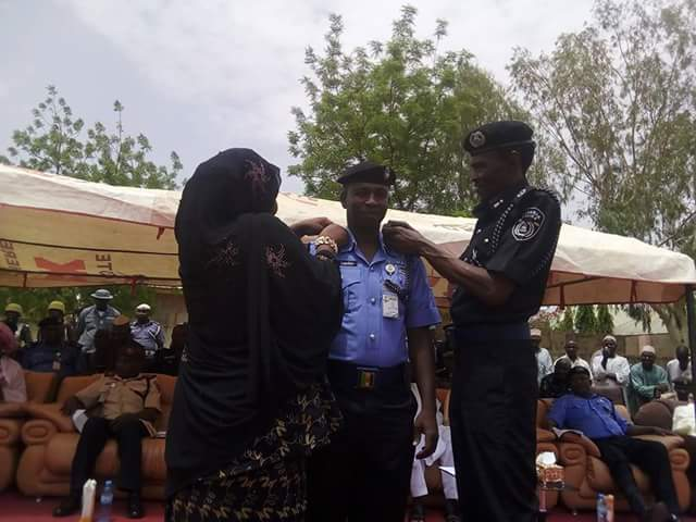 "Photos: Newly promoted senior Police officer salutes his wife, ""the Chief Superintendent of the Other room"""