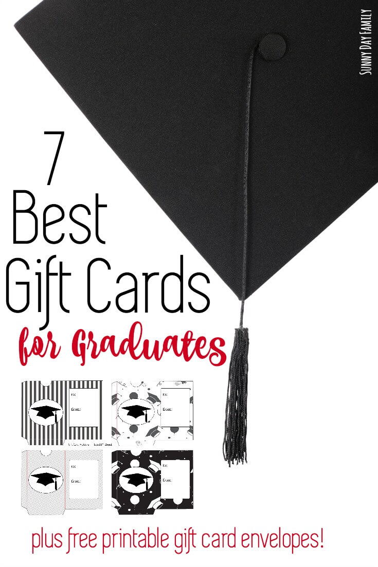 Looking for an easy graduation gift idea your grad will love? Give a gift card! Find the best gift cards for grads and personalize it with free printable gift card envelopes!
