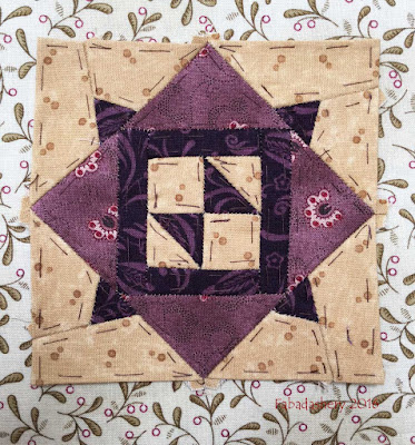 Dear Jane Quilt - Block E13 Moth in a Web