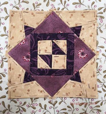 Dear Jane Quilt - Block E13 Moth in a Web