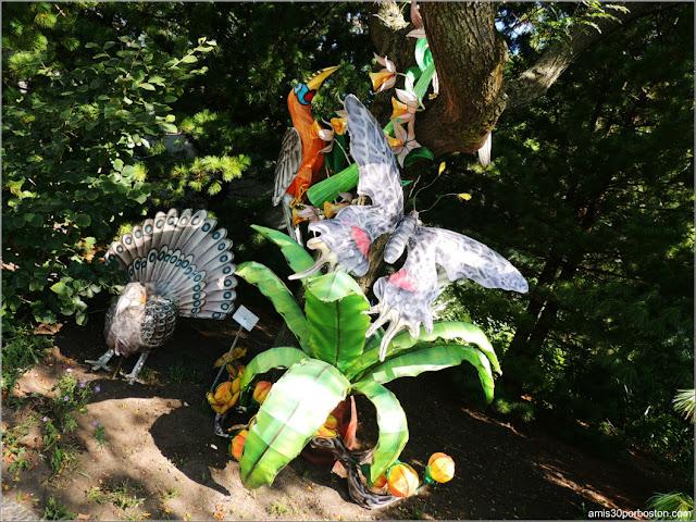 Linternas de Animales del Gardens of Lighten en el Jardín Chino, Montreal
