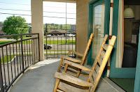 Rocking chairs on private balconies