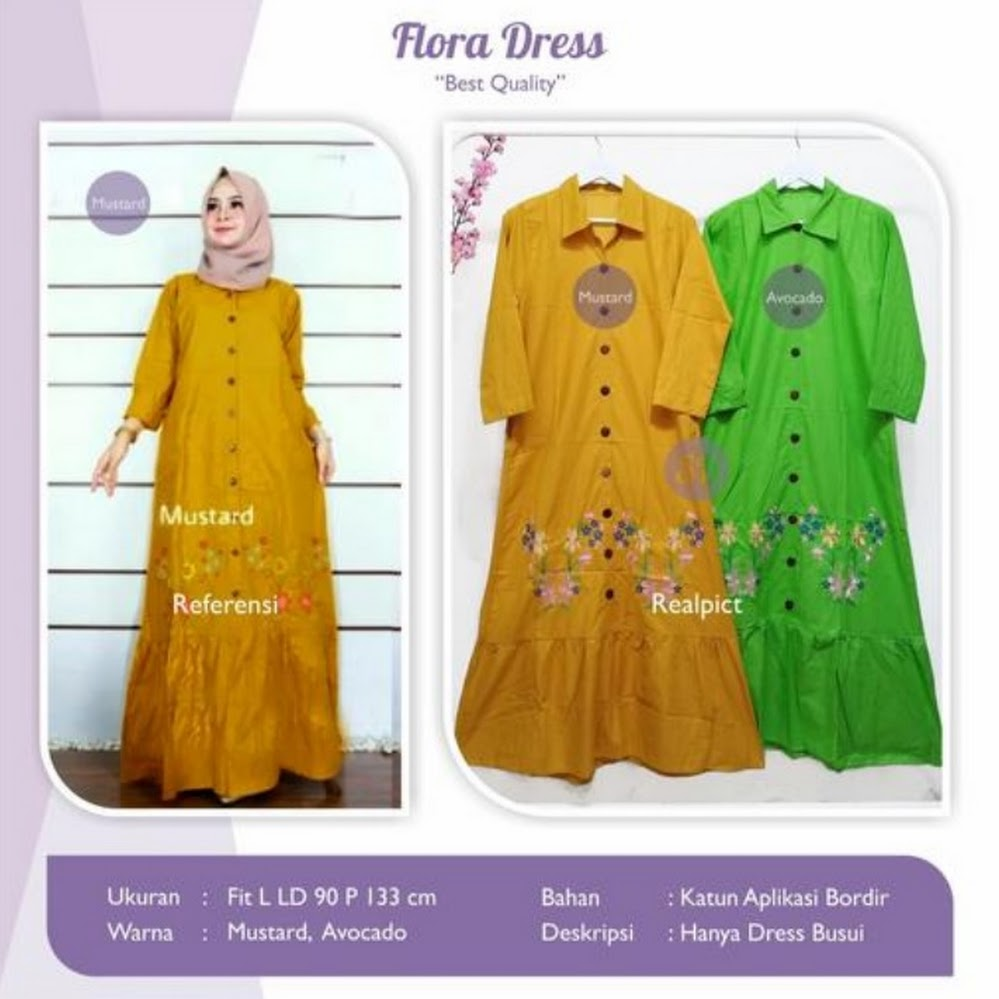 jual flora dress