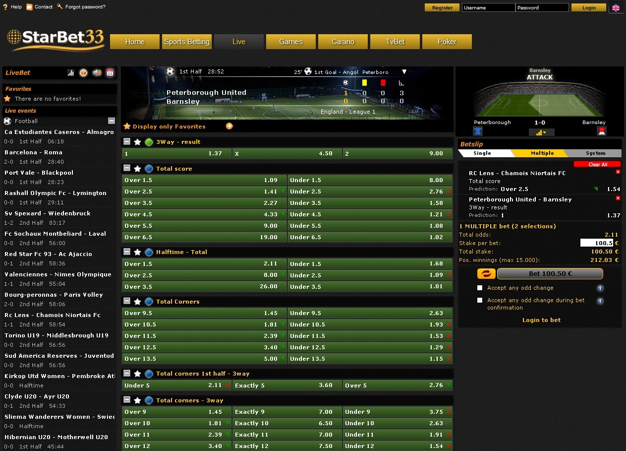 Starbet33 Screen