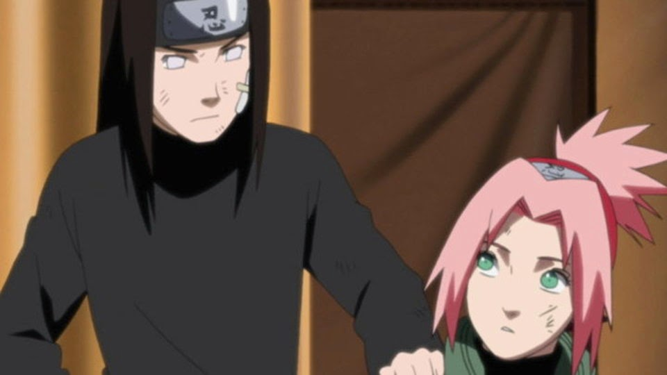 Neji falso encuentra a Sakura