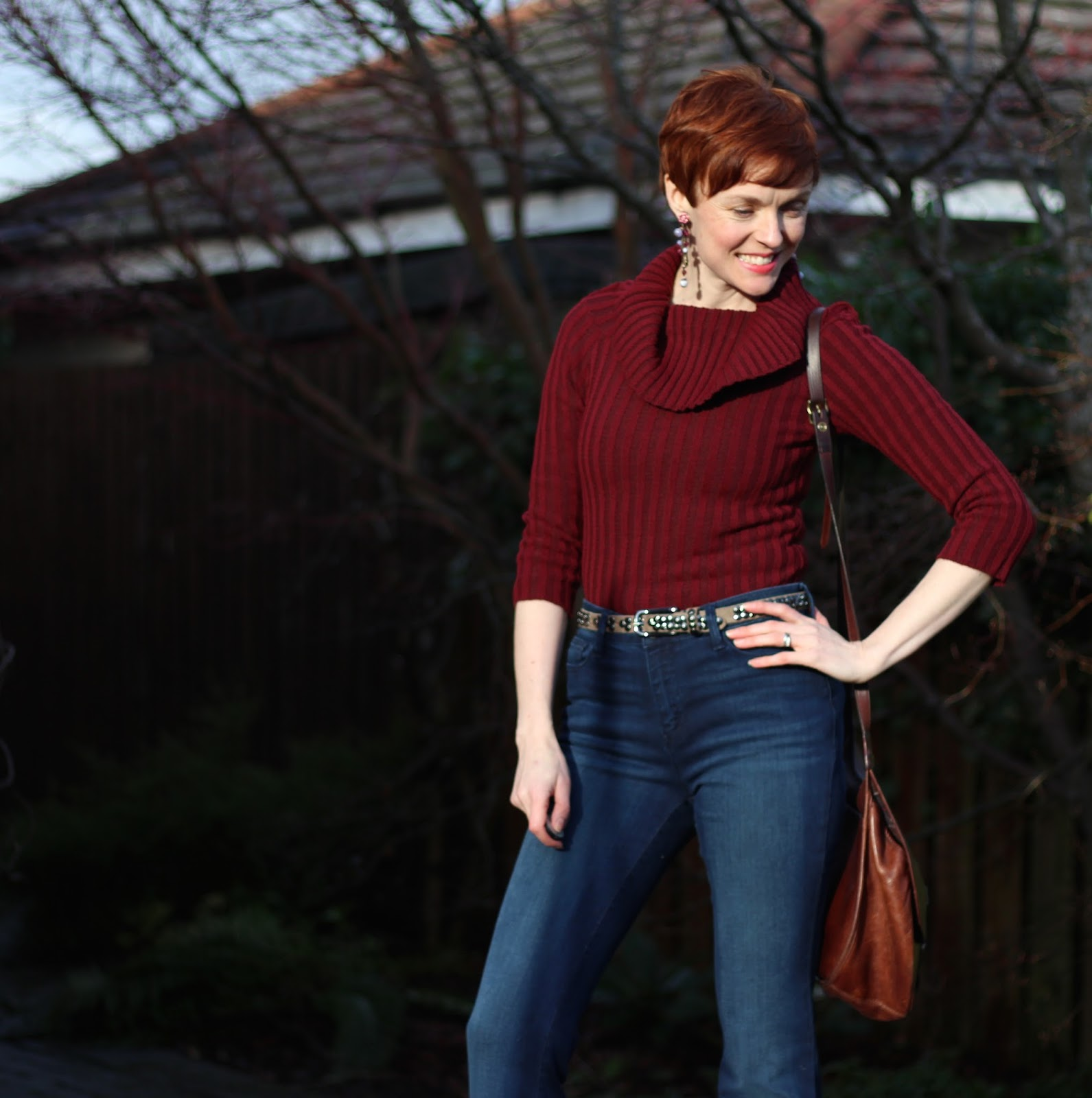 Maroon and Denim | Fake Fabulous