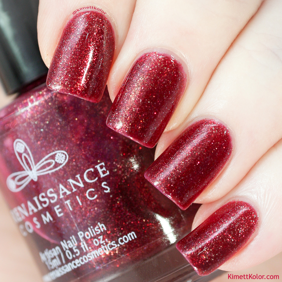 Kimett Kolor Polish Swatch Blood Lust Renaissance Cosmetics
