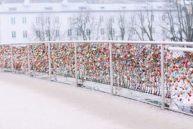 Salzburg Makartsteg love lock bridge