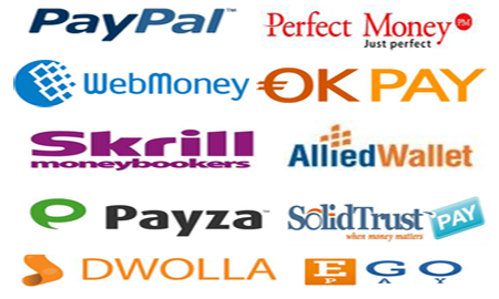 List of Online Payments Processing Sites