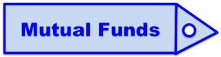 "Blue Colour Tag showing ""Mutual Funds"""