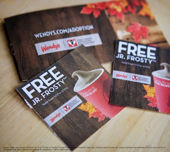Wendys Jr. Frosty coupon book