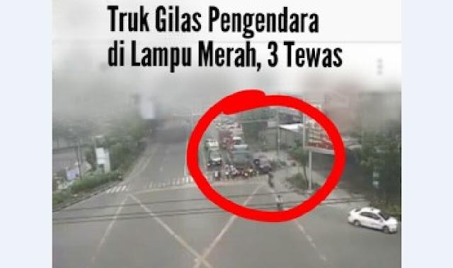 Mengerikan! Gara-gara Rem Blong, Truk Trailer Tabrak 5 Sepeda Motor di Medan, 3 Korban Tewas Ditempat