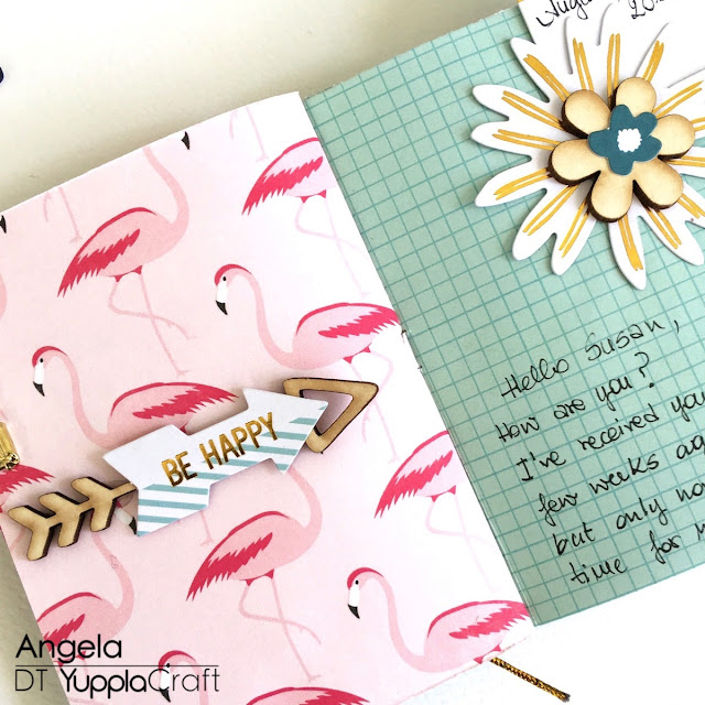 #letterminitravelbook by Angela Tombari for Yuppla Craft DT