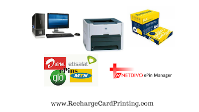 print recharge cards in Nigeria with a software