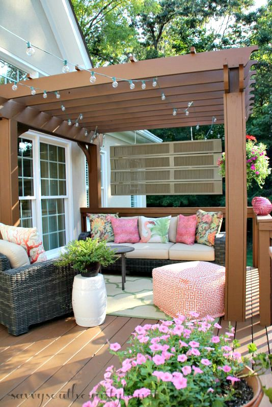 Now I Have This Beautiful Outdoor Room The Addition Of Pergola Created Perfect E