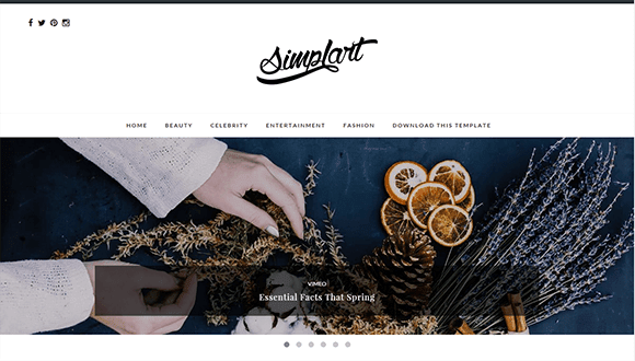 Simplart Blogger Template