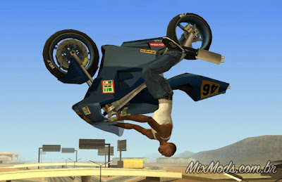 gta sa san andreas mod cleo fix bike flip backflip air girando 360