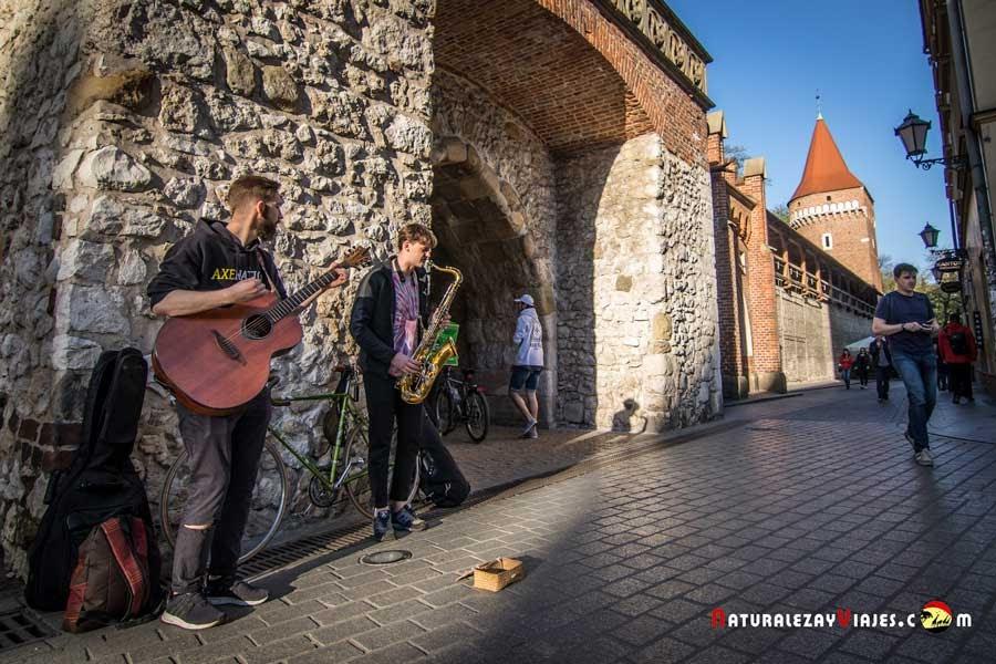 Puerta de San Florian en la Muralla de Cracovia