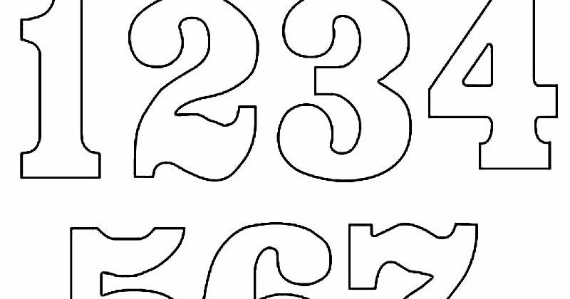 Cantinho da Ana Trindade: Molde de números