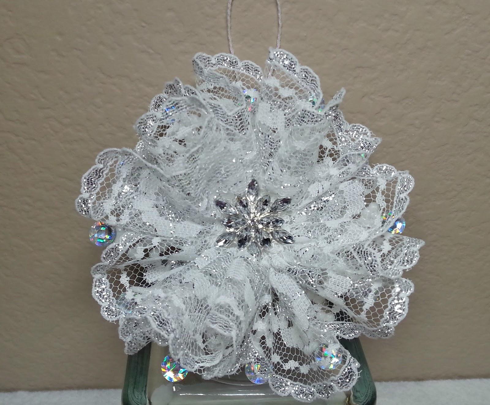 DIY~ Make Beautiful & Easy Lace Snowflake/Flower Christmas ...
