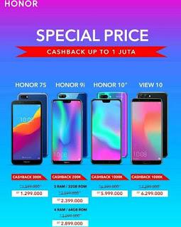 Smartphone Honor 10 Lite Terbaru 2019