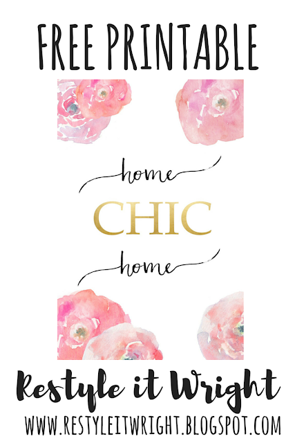 Home Chic Home free printable to frame and etsy art round up