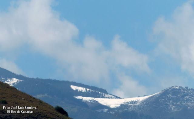 Fotos nieve en la cumbre vista desde Las Palmas de Gran Canaria