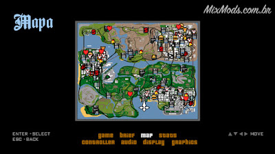 gta sa san mod skyui console xbox ps2 map radar pause menu