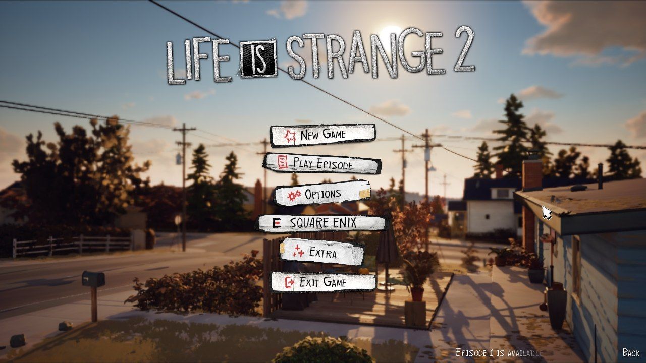 Life Is Strange 2 főmenü