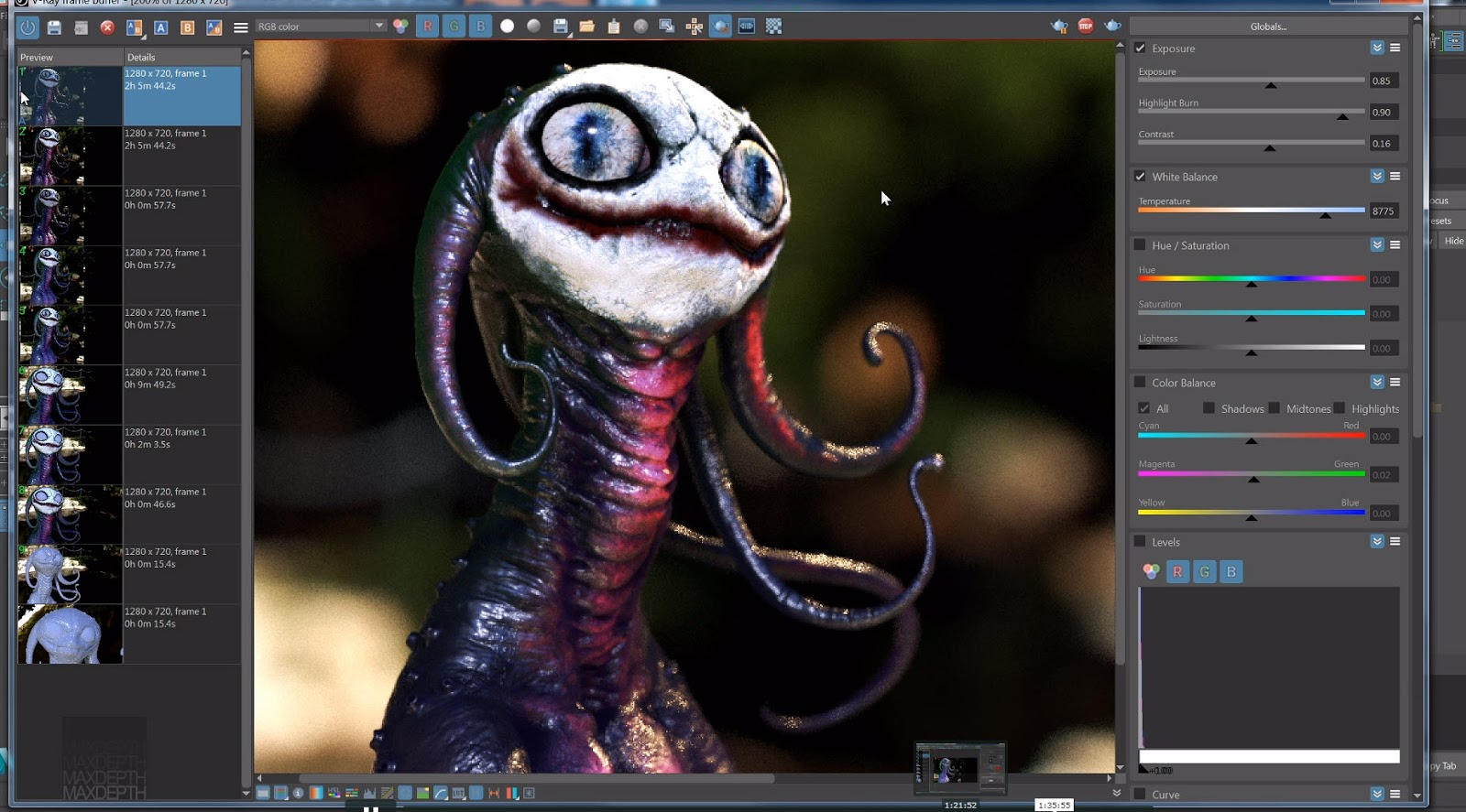 Creature Shading Tutorial: Sub Surface Materials in V-Ray