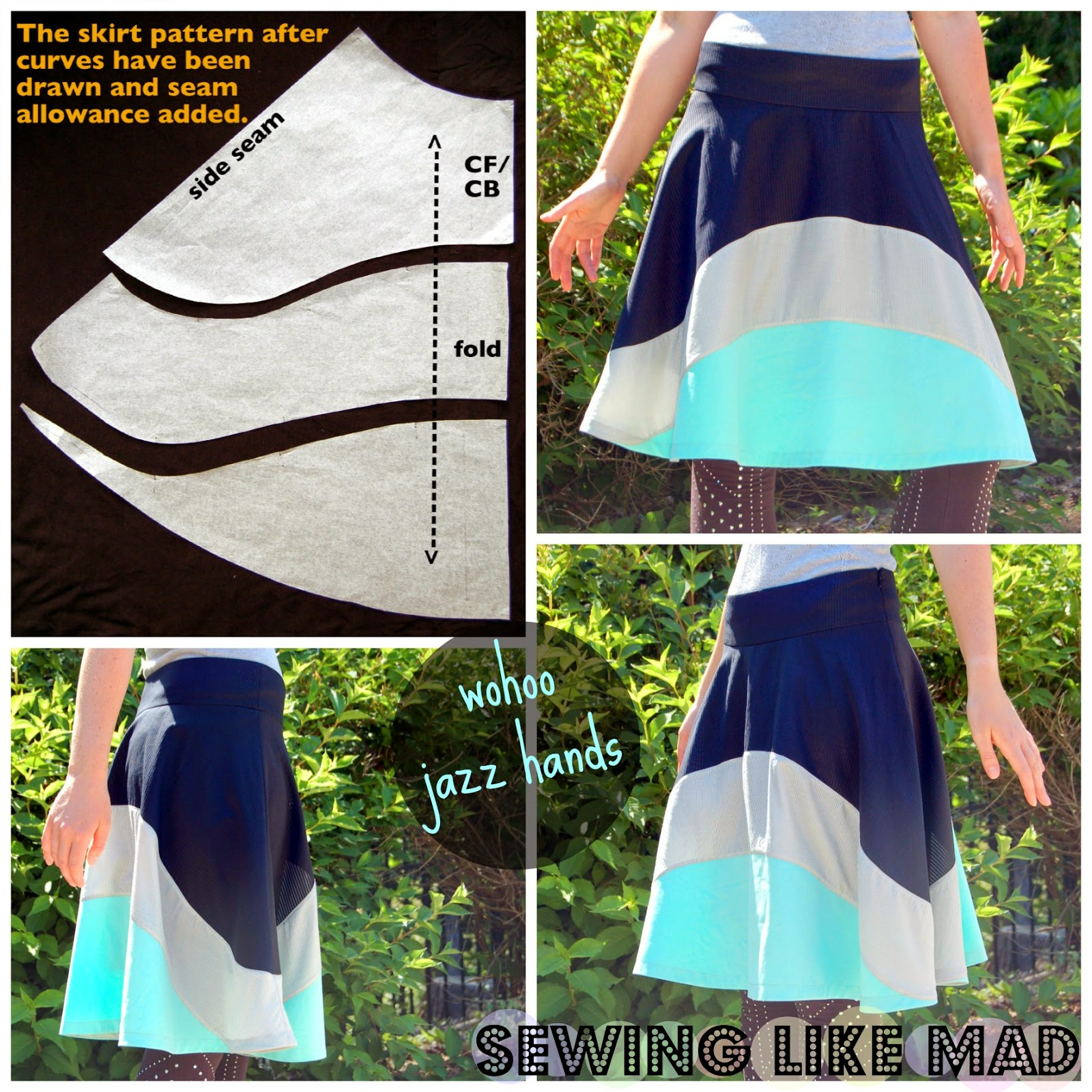 Sewing Like Mad: Skirt Week 2013 - How to draft a custom fit skirt ...