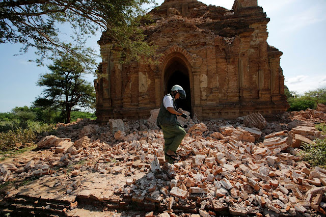 Damaged Bagan temples under detailed assessment