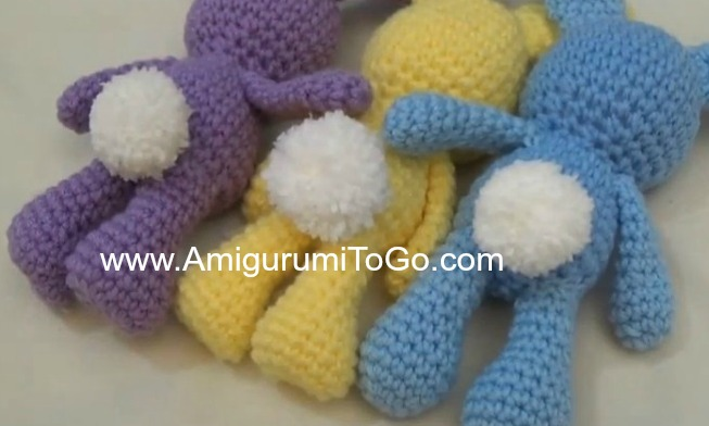 Amigurumi Freely Fb : Little bigfoot bunny 2014 with video tutorial ~ amigurumi to go