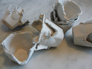 egg cartons cut up