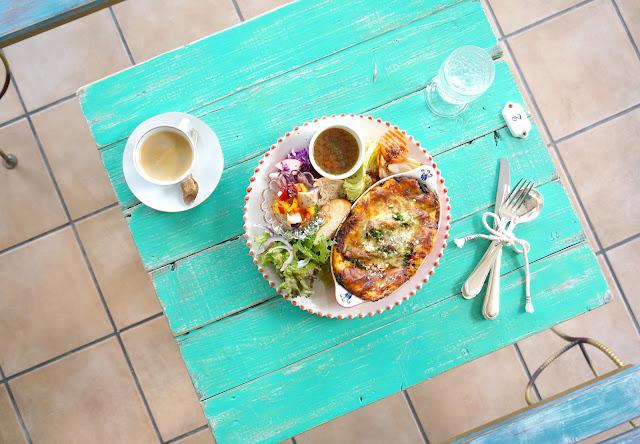 富山 カフェ cafe & bar micka カフェ バー ミクカ 2017.3.18移転オープン 限定5食 ラザニアランチ(ドリンク付)¥1,650