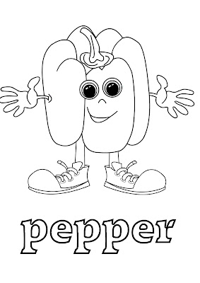 esl coloring pages - pepper