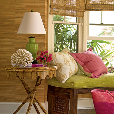Tropical Green Living Room