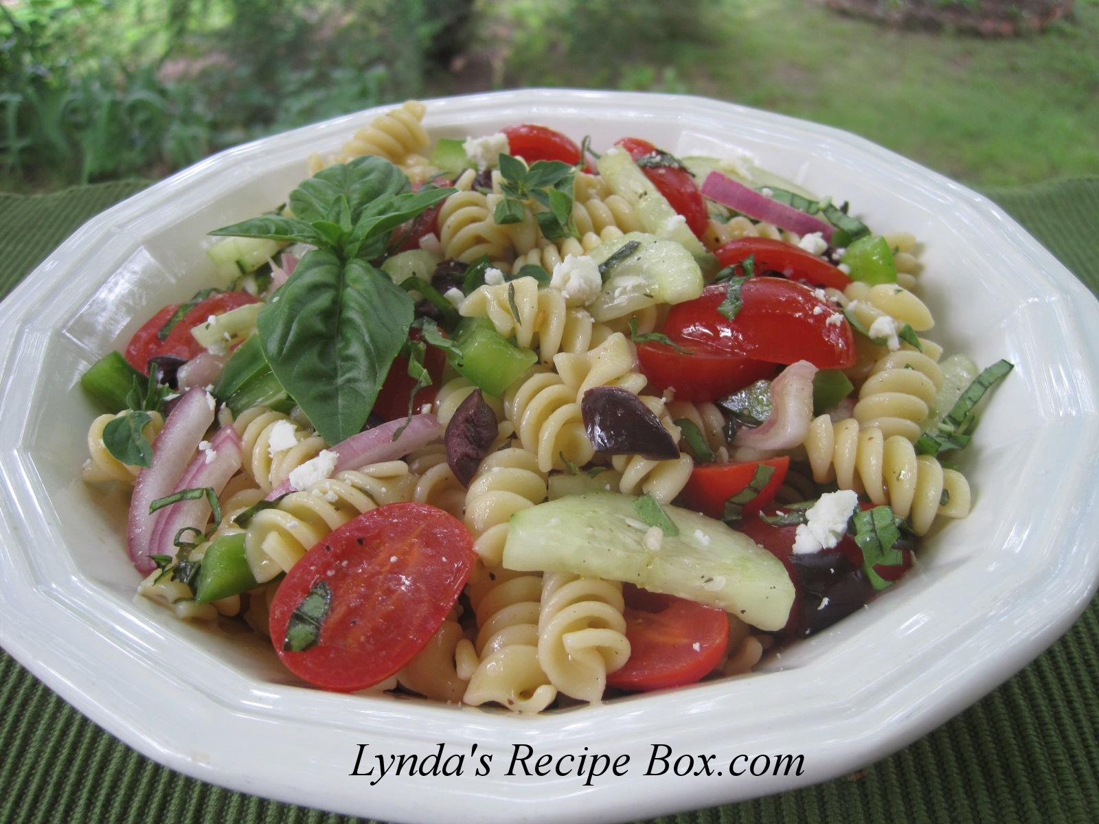 Lynda's Recipe Box: Mediterranean Style Pasta Salad