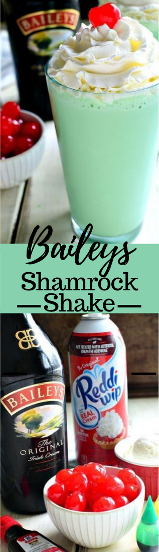 Baileys Shamrock Shake #recipe #drinks