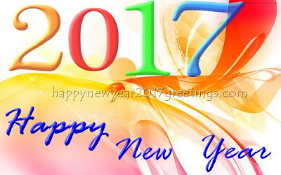 Happy New Year 2017 Colorful Greetings Images Ecards