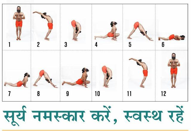 surya namaskar yoga posses