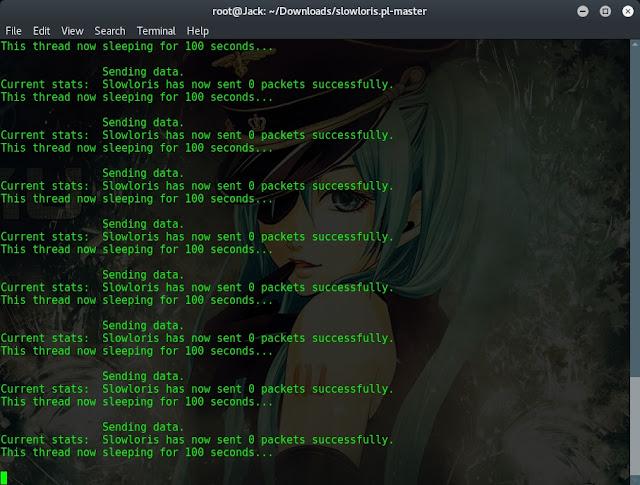 Cara Ddos dengan Slowloris Script di Kali Linux