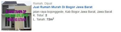 Rumah Dijual DiBojonggede Bogor 320 Juta
