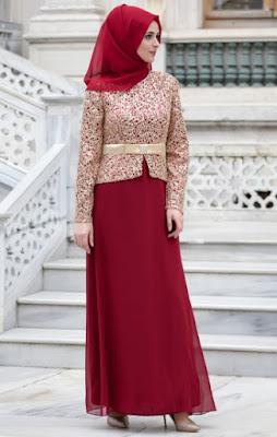 Baju muslim brokat model atasan 1
