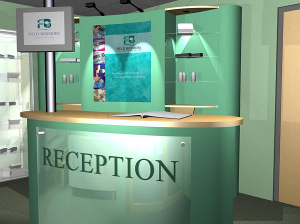 Office Reception Design Ideas Light Box