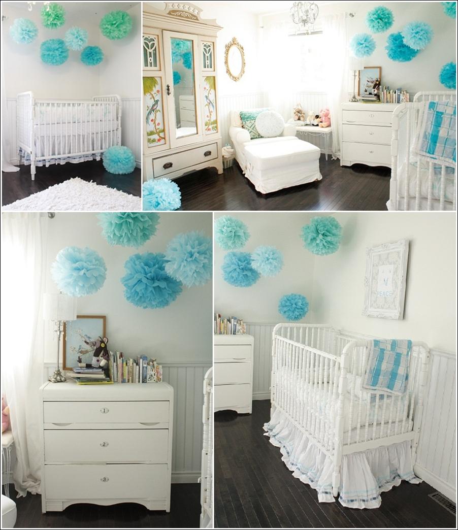 d corez la chambre de votre b b avec des pompons d cor de maison d coration chambre. Black Bedroom Furniture Sets. Home Design Ideas