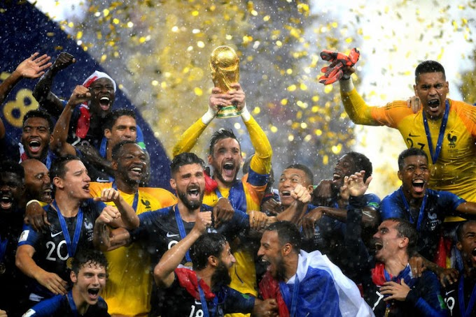 France wins 2nd #WorldCup title, beats Croatia 4-2